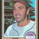 Atlanta Braves Clete Boyer 1968 Topps Baseball Card 550 vg/ex