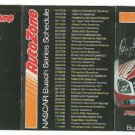 2006 NASCAR Busch Series Auto Zone Pocket Schedule Kenny Wallace DAV