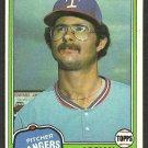 Texas Rangers Adrian Devine 1981 Topps Baseball Card 464 nr mt