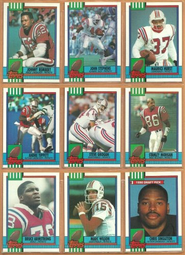 1990 Topps New England Patriots Team Set Steve Grogan Andre Tippett Stanley Morgan