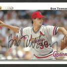 ST LOUIS CARDINALS BOB TEWKSBURY SIGNED AUTOGRAPH 1992 UPPER DECK # 512