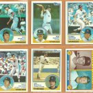 1983 Topps New York Yankees Team Lot Lou Piniella Ron Guidry Bobby Murcer Lee Mazzilli Dave Collins