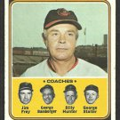 Baltimore Orioles Earl Weaver and Coaches 1974 Topps Baseball Card 306 vg/ex