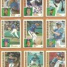 1984 Topps Texas Rangers Team Lot 25 Buddy Bell Jim Sundberg Mickey Rivers Larry Parrish Bucky Dent