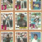 1984 Topps San Francisco Giants Team Lot 25 Jack Clark Frank Robinson Darrell Evans Jeff Leonard