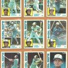 1984 Topps Toronto Blue Jays Team Lot Lloyd Moseby Bobby Cox Jesse Barfield Ernie Whitt Dave Collins