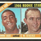 Chicago White Sox Rookie Stars Tommie Agee Mike Stahle 1966 Topps Baseball Card 164 vg