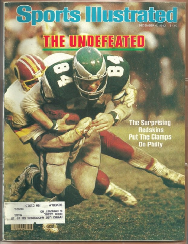 1982 Sports Illustrated Washington Redskins Green Bay Packers Nebraska Cornhuskers Florida Seminoles