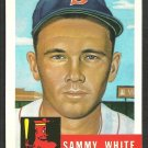 Boston Red Sox Sammy White 1991 Topps Baseball Card 1953 Archive 139