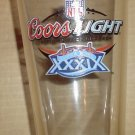 Super Bowl XXXIX 39 Coors Light Beer Glass New England Patriots Philadelphia Eagles