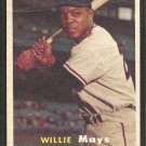 New York Giants Willie Mays 1957 Topps Baseball Card 10 vg
