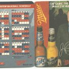 2005 Boston Red Sox Miller Beer Coaster Schedule with Jerry Remy