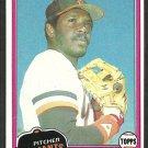 San Francisco Giants Vida Blue 1981 Topps Baseball Card 310