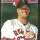 2003 Boston Red Sox Pocket Schedule Derek Lowe Paint the Town Red Budweiser