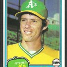 Oakland Athletics Bob Lacey 1981 Topps Baseball Card 481 nr mt