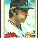 Minnesota Twins Jerry Koosman 1981 Topps Baseball Card 476 nr mt