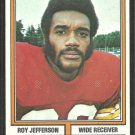 Washington Redskins Roy Jefferson 1974 Topps Parker Brothers Pro Draft Football Card 119 g/vg