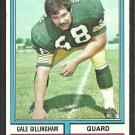 Green Bay Packers Gail Gillingham 1974 Topps Football Card 115 ex/em