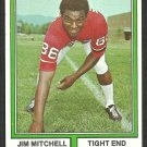 Atlanta Falcons Jim Mitchell 1974 Topps Parker Brothers Pro Draft Football Card 107 ex/nm