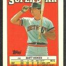 Detroit Tigers Matt Nokes Rookie Card 1988 Topps Sticker Card 56 Boston Red Sox Kansas City Royals