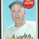 Los Angeles Dodgers Walt Alston 1969 Topps Baseball Card 24 ex/em