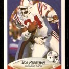 New England Patriots Bob Perryman 1990 Fleer Football Card 324