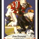 New England Patriots John Stephens 1990 Fleer Football Card 328
