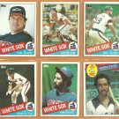 1985 Topps Chicago White Sox Team Lot 32 diff Harold Baines Carlton Fisk Tom Seaver Greg Luzinski