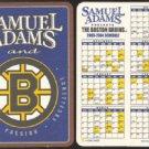 Lot of 10 Boston Bruins Sam Adams Beer 2003 2004 Cardboard Coaster Schedules
