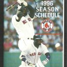 1996 Boston Red Sox Pocket Schedule Mo Vaughn Red Dog Beer