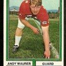 Atlanta Falcons Andy Maurer 1974 Topps Football Card 212 vg