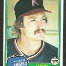 California Angels Jason Thompson 1981 Topps Baseball Card 505 nr mt