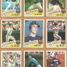 1985 Topps Houston Astros Team Lot 27 diff Nolan Ryan Mike Scott Joe Niekro Terry Puhl Phil Garner