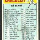 1966 Topps Baseball Card 364 5th Series Checklist fair