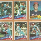 1985 Topps Minnesota Twins Team Lot 29 diff Kent Hrbek Frank Viola Tom Brunansky Gary Gaetti Hatcher