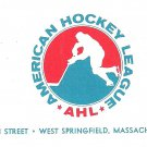 1972 AHL American Hockey League Logo Envelope and Form Letter Springfield MA.