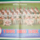 1995 Boston Red Sox Team Photo Poster Roger Clemens Jim Rice Johnny Pesky