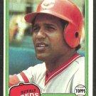 Cincinnati Reds Sam Mejias 1981 Topps Baseball Card 521 nr mt