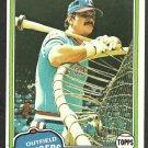 Texas Rangers Richie Zisk 1981 Topps Baseball Card 517 nr mt