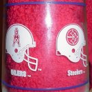 AFC Central Glass Pittsburgh Steelers Houston Oilers Cincinnati Bengals Cleveland Browns Mobil Oil