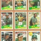 1985 Topps Oakland Athletics Team Lot 26 diff Joe Morgan Dave Kingman Carney Lansford Dave Lopes