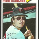 Minnesota Twins Mike Cubbage 1977 Topps Baseball Card 149 vg+