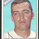 Atlanta Braves Hank Fischer 1966 Topps Baseball Card 381 vg
