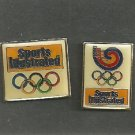 2 diff 1983 Sports Illustrated Olympic Pins Pinback