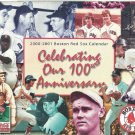 2000 2001 Boston Red Sox Schedule Calendar 100 Years Ted Williams Carl Yastrzemski Wade Boggs Clemen