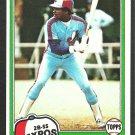 Montreal Expos Rodney Scott 1981 Topps Baseball Card 539 nr mt