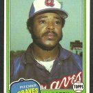 Atlanta Braves Larry Bradford 1981 Topps Baseball Card 542 nr mt