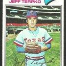 Texas Rangers Jeff Terpko 1977 Topps Baseball Card 137 g/vg