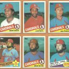 1985 St Louis Cardinals Team Lot 23 diff Ozzie Smith Bruce Sutter Joaquin Andujar Lonnie Smith