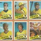 1985 Topps Pittsburgh Pirates Team Lot 24 diff Bill Madlock Tony Pena John Candelaria